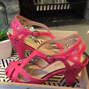Pink Strappy Heels Chelsea Crew